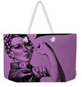 Rosie In Pink Weekender Tote Bag