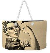 Rosie In Sepia Weekender Tote Bag