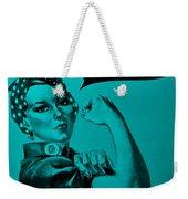 Rosie In Turquoise Weekender Tote Bag