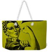 Rosie In Yellow Weekender Tote Bag