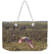 Rosy In The Field Weekender Tote Bag