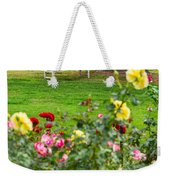 Rosy View - Beautiful Rose Garden Of The Huntington Library. Weekender Tote Bag