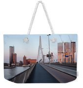 Rotterdam Downtown Skyline At Sunset Weekender Tote Bag
