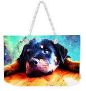 Rottie Puppy By Sharon Cummings Weekender Tote Bag by Sharon Cummings