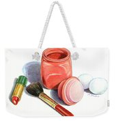 Rouge And Lipstick Still Life Weekender Tote Bag