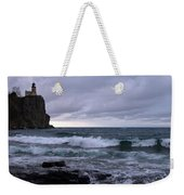 Rough Surf At Split Rock Weekender Tote Bag