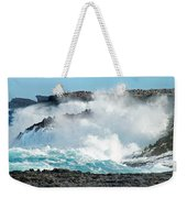 Rough Waves Offshore Whale Point Weekender Tote Bag