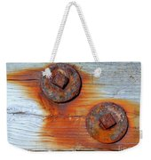 Round And Rusted Weekender Tote Bag