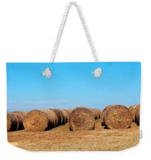 Round Bales Of Hay Weekender Tote Bag