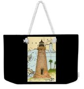 Round Island Lighthouse Ms Nautical Chart Map Art Weekender Tote Bag