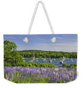 Round Pond Lupine Flowers On The Coast Of Maine Weekender Tote Bag