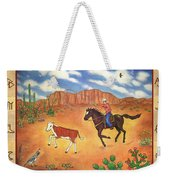 Round Up And Cattle Brands Weekender Tote Bag