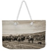 Rounding Up Cattle In Cornville Arizona Sepia Weekender Tote Bag