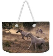 Rounding Up Horses On The Ranch Weekender Tote Bag