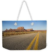 Route 128 Near Castle Valley Weekender Tote Bag by Adam Romanowicz