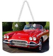 Route 66 - 1961 Corvette Weekender Tote Bag