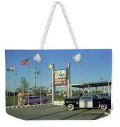 Route 66 - Anns Chicken Fry House Weekender Tote Bag by Frank Romeo