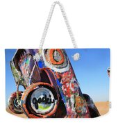 Route 66 Cadillac Ranch Weekender Tote Bag