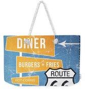 Route 66 Diner Weekender Tote Bag by Linda Woods