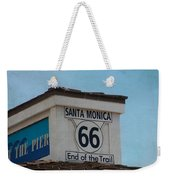 Route 66 - End Of The Trail Weekender Tote Bag by Kim Hojnacki