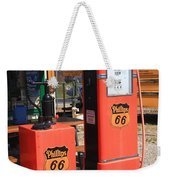 Route 66 Gas Pumps Weekender Tote Bag