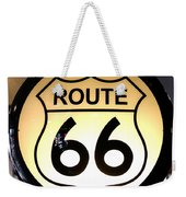 Route 66 Lighted Sign Weekender Tote Bag