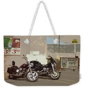 Route 66 Motorcycles With A Dry Brush Effect Weekender Tote Bag