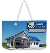 Route 66 Odell Il Gas Station Signage 01 Weekender Tote Bag