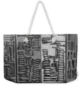 Route 66 Odell Il Gas Station Tools Black And White Weekender Tote Bag