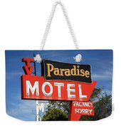 Route 66 - Paradise Motel Weekender Tote Bag by Frank Romeo
