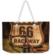 Route 66 Raceway Weekender Tote Bag