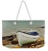 Row Boat On Rocky Shore Weekender Tote Bag