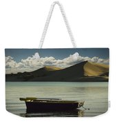 Row Boat On Silver Lake With Dunes Weekender Tote Bag