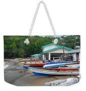 Row Boats On Beach Weekender Tote Bag