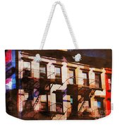 Row Houses - Old Buildings And Architecture Of New York City Weekender Tote Bag