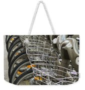 Row Of Bicycles Weekender Tote Bag