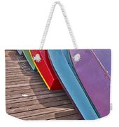 Row Of Colorful Boats Art Prints Weekender Tote Bag