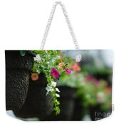 Row Of Hanging Baskets Shallow Dof Weekender Tote Bag