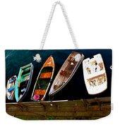 Row Of Rowboats  Weekender Tote Bag