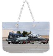 Row Of T-38c Trainer Jets At Nellis Air Weekender Tote Bag