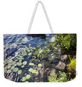 Rowboat At Lake Shore Weekender Tote Bag