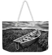 Rowboat At Prospect Point - Black And White Weekender Tote Bag