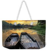 Rowboats On The River Weekender Tote Bag
