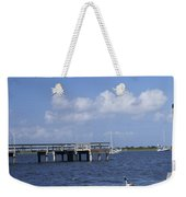 Rowboats Tied To Dock Weekender Tote Bag
