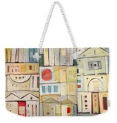 Rowhouses Triptych Weekender Tote Bag