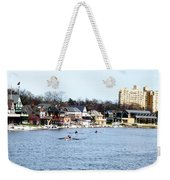 Rowing At Boathouse Row Weekender Tote Bag
