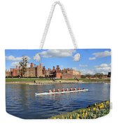 Rowing On The Thames At Hampton Court Weekender Tote Bag