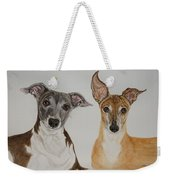 Roxie And Bruno The Greyhounds Weekender Tote Bag