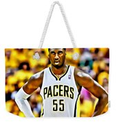 Roy Hibbert Weekender Tote Bag by Florian Rodarte