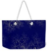 Royal Blue Frost Fractal Weekender Tote Bag